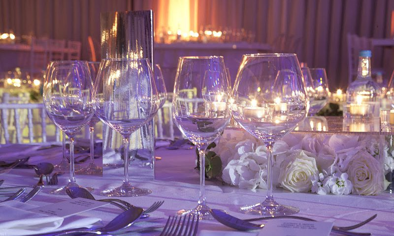 local wedding venue, wedding glassware