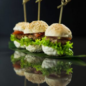 Mini Lamb Burgers and Mini Lamb Sliders - Gourmet Asian-themed Event and Wedding Catering