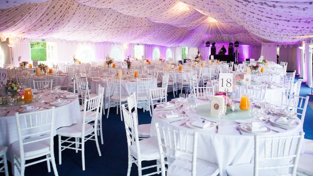 Wedding Reception Marquee at Poundon House, Bicester